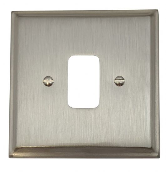 G&H Deco Plate Satin Nickel